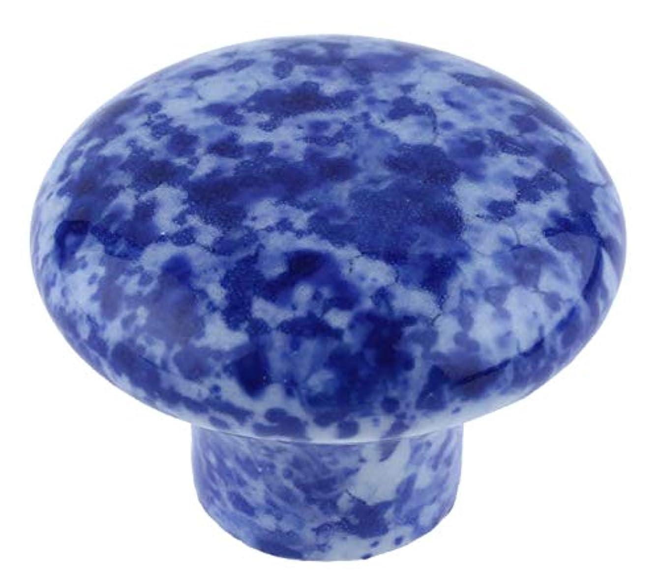 Ceramic Blue Granite Enamelware Knob Pull Handle 1 1/4