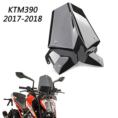 Areyourshop ABS Windschutzscheibe mit Halter Für 2017-2018 K-T-M Duke 125 Duke 390
