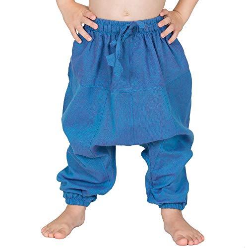 Nitya Design Haremshose für Kinder Plain Pumphose Aladinhose Pluderhose türkis 104/110