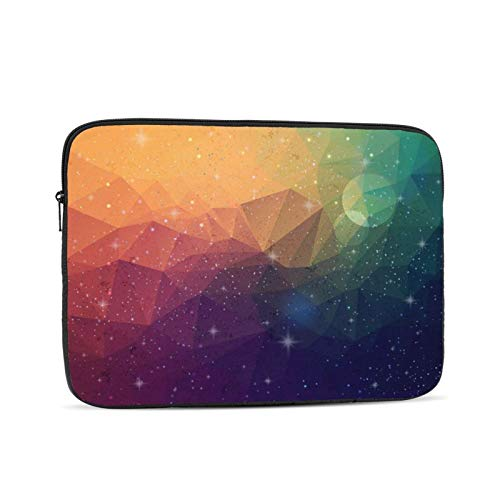 Bolsa de manga para portátil Multi Color Triangular Patrón Tablet Maletín Ultraportable Lona Protectora para
