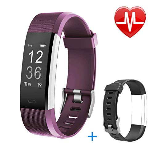 Letsfit Fitness Tracker HR, Activity Tracker Watch with Heart Rate Monitor, IP67 Waterproof Smart Bracelet as Calorie Counter Pedometer Watch for Android and iOS ¡­