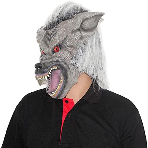 TEPET Halloween Scary Latex Wolf e Werewolf Furry Animal Wolf Disfraz de Halloween Party Props