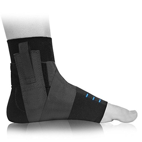 Premium Compression Ankle Brace with Gel - Swelling Control, Pain Relief, and Stabilization After Injury (M - L) - by BioSkin