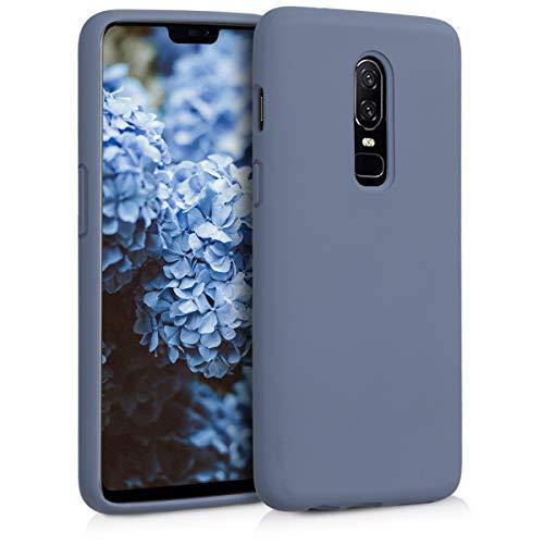 kwmobile Hülle kompatibel mit OnePlus 6 - Hülle Handyhülle gummiert - Handy Hülle in Lavendelgrau