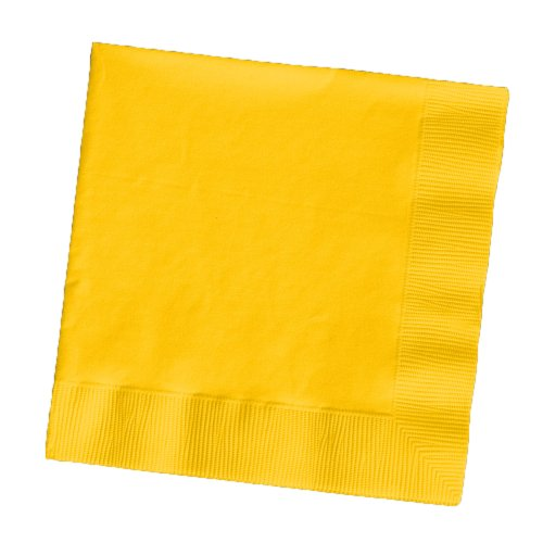 Creative Converting Touch of Color 200 Count 2-Ply Paper Beverage Napkins, School Bus Yellow , one size - 251021