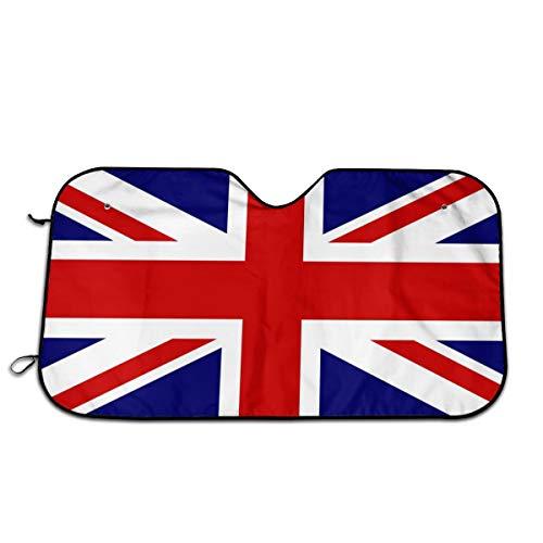 Visera para parabrisas de coche con bandera británica, protección contra rayos UV, 51 x 27.5 pulgadas