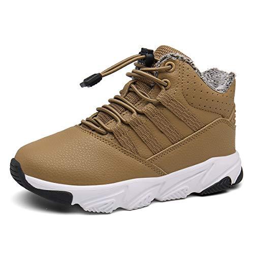 Kinderstiefel Baby Hausschuhe Warm Gefüttert Sneaker rutschfeste Stiefel Leichte Lauflernschuhe Gelb EU22.5=CN24
