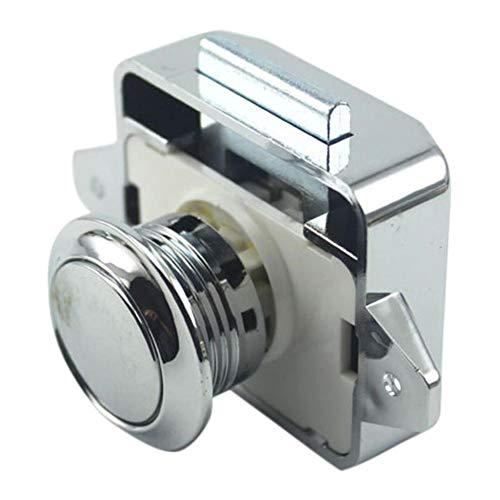Ritapreaty Meubelslot, Duw-type Lade Lock Auto Lock RV Deurslot voor Deur Kast Mailbox Kast & Lade Sloten 【5 PCS】