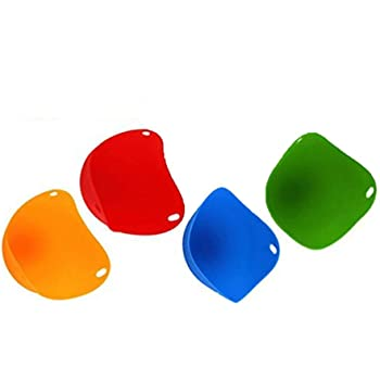 confezione da 6 Egg cooker-6/confezione in silicone a forma di cucchiaio per uova sode antiaderente in silicone duro duro caldaia Poache