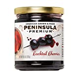 Peninsula Premium Cocktail Cherries | Award Winning | Deep Burgundy-Red | Silky Smooth, Rich Syrup | Luxe Fruit Forward, Sweet-Tart Flavor | American Grown & Made (10.5 oz)
