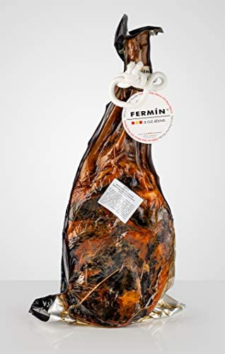 Iberico Ham Leg Cured for 24 Months Between 20 25 Servings 10 12 lbs Ham Cover Ham Holder not product image