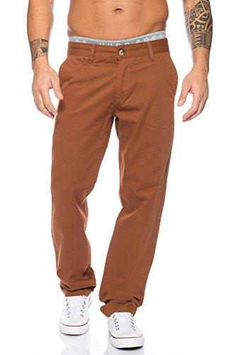 Rock Creek Herren Designer Chino Stoff Hose Chinohose Regular Fit Herrenhose Elegante Hosen Stoffhose Jeans Pants Chinohose RC-2083 Braun W34 L32