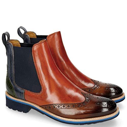Melvin & Hamilton Damen Amelie 5 Chelsea Boots, Blau (Crust/Wood (1) / W. Orange (2) / Sky (3) /...