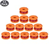 Edger Spool Line Replacement for Worx WG180 WG163 WG175 WA0010 (13 Pack) Weed Eater String, Weed Wacker Spool Replace, Trimmer Line Refills 10ft 0.065 inch Replacement for Electric String Trimmers