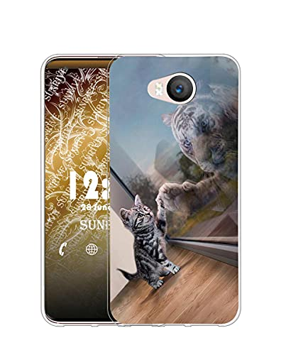 Sunrive Kompatibel mit Elephone P9000 Lite Hülle Silikon, Transparent Handyhülle Schutzhülle Etui Hülle (Q Katze 3)+Gratis Universal Eingabestift MEHRWEG