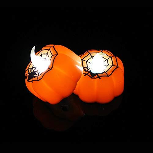 SHEANAON 1Pc Piccola Zucca LED Night Light Decorazione di Halloween Prop Flickering Flameless Candle Lamp Home Festival Decorazioni per Feste