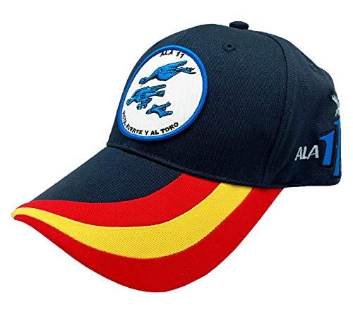 Tacro Gorra Ejército del Aire ala 11 Moron, Vista, Suerte y al Toro Color Azul Marino Unisex Adulto Ajustable