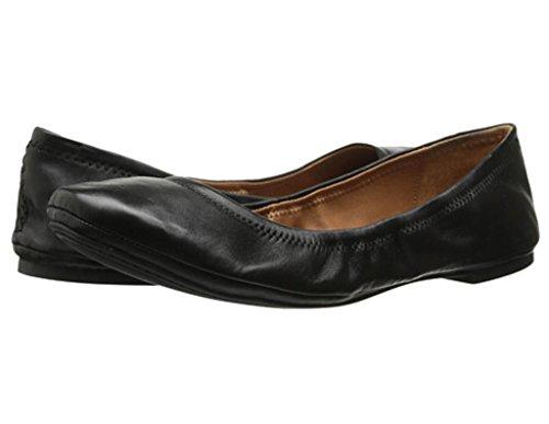 Lucky Brand Women's Emmie Ballet Flat, Black/Leather, 8 M US