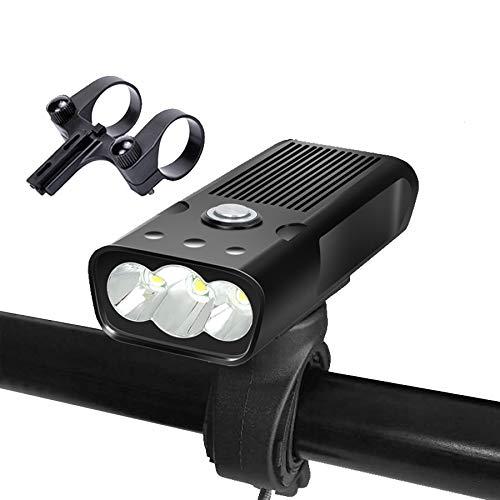 yywl LED Fahrradlicht,Fahrradbeleuchtung Taschenlampe für Fahrrad USB MTB Bike Licht T6 2400 Lumen Led Laterne Scheinwerfer Halterung Zyklus Frontlampe