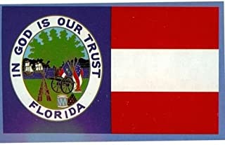 New They can be used indoors or outdoors.3x5 ft Florida Republic Flag 1861 In God Is Our Trust Civil War Flag.The authentic design is based on information from official sources