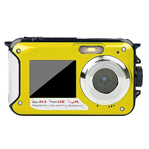 BlackUdragon Cámara submarina de doble pantalla HD impermeable de grabación de vídeo deportes de buceo LED flash cámara de vídeo digital