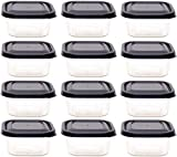 idea-station Vorratsdosen-Set 12 Stück, 300 ml, anthrazit, mit Deckel, stapelbar, Frischhaltedosen, Aufbewahrungsboxen, Lunchbox, Küchenhelfer, Meal Prep, Gefrierdosen
