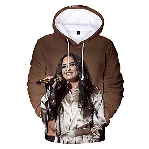VEZ Unisex 3D-Druck Hoodie Sweatshirt Demi Lovato Hoodie Sweatshirt Modedruck Hoodie Loose Top