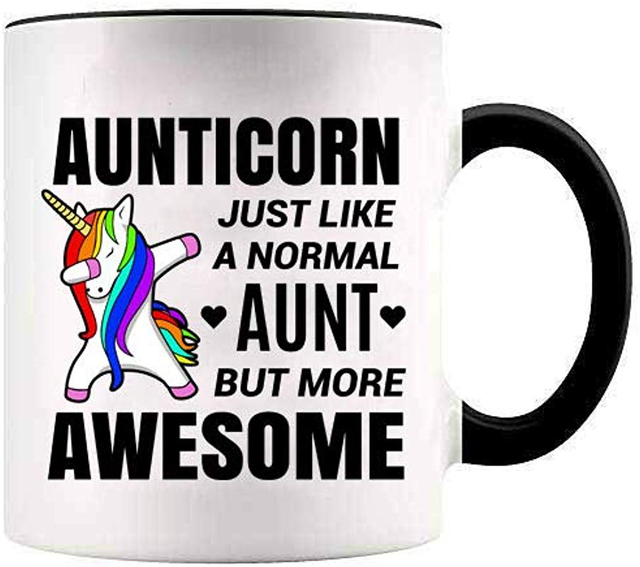 YouNique Designs Unicorn Aunt Mug 11 Ounces White Aunticorn Coffee Mug For Aunt Gifts Auntie Mug