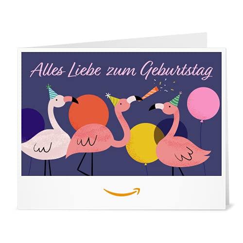 Amazon.de Gutschein zum Drucken (Flamingo Geburtstag)