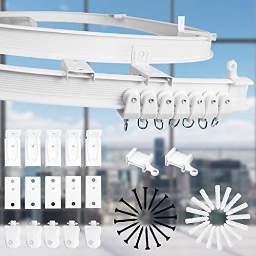 Xnuoyo Deckenvorhangschiene Biegbare Deckenhalterung Vorhangschiene Etagenbett Vorhänge RV Gardinenschiene Für Deckenhalterungen mit Schienensystem (2M)