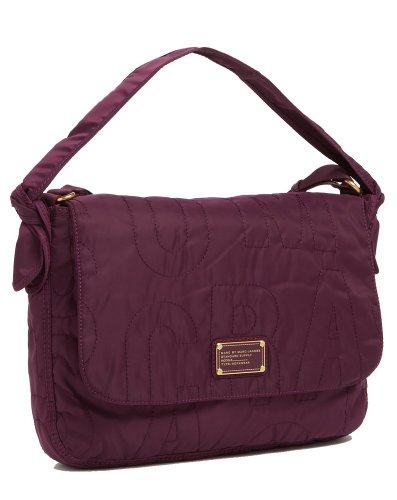 Marc Jacobs Pretty Nylon 13' Messenger Bag Dark Magenta