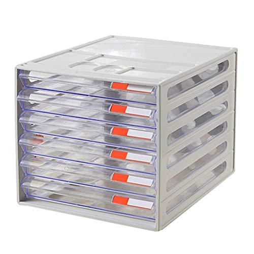 Ablagesysteme Ablagesystem Schreibtisch 6 Schubladen A4 Kunststoff-File Data Storage Storage Box Ordnungs System Schreibtisch 26 X 34 X 24 cm Bürobedarf Schreibwaren