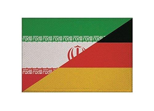 U24 Aufnäher Iran-Deutschland Fahne Flagge Aufbügler Patch 9 x 6 cm