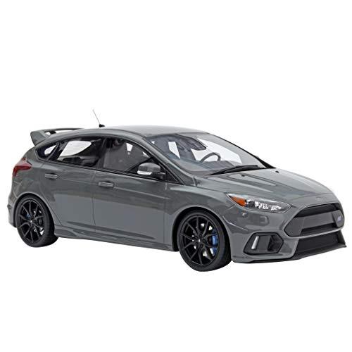 GAOQUN-TOY Modèle de Voiture en résine au 1:18 Ford Focus RS Focus 2017 OT779 (Couleur : Gray, Taille : 27cm*11cm*9cm)