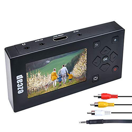 """Portable VHS Hi8 8mm Camcorder Video Tape Converter, VHS to DVD Converter Machine Recorder / Player - Convert VHS to Digital with 3"""" TFT Screen"""