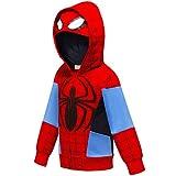 Ragazzi Felpa con Cappuccio Spiderman T-Shirt Unisex Camicie Bambino Hoodie Pullover Autunno T-Shirt Inverno Maniche Lunghe Maglietta Giacchino (C SD,110cm)