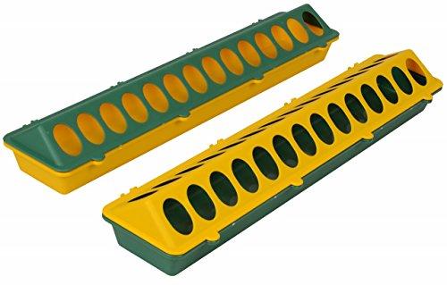 Futtertrog - Wachtelfuttertrog Kunststoff 50cm - Keine Scharrverluste