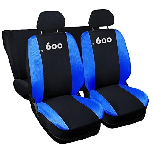 Lupex Shop NBr Coprisedili compatibili 600, Nero-Blu Royal