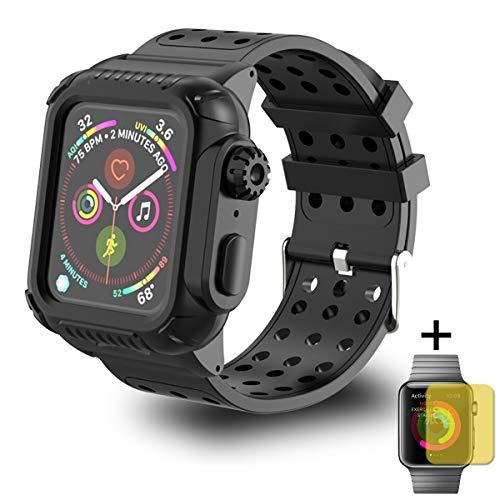 Dee Plus Correa para reloj inteligente con funda para Apple Watch Band 44 mm, funda protectora con correa para iWatch 5 4 bandas pulsera para Apple Watch Series 4 Series 5