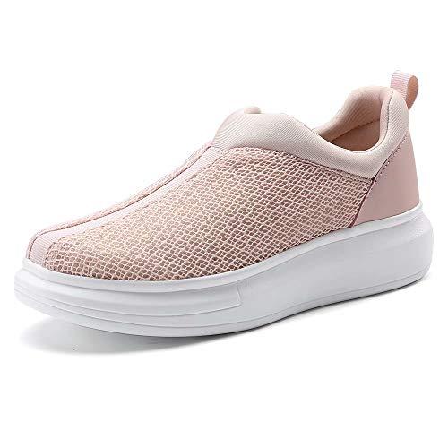 COOJOY Zapatillas para Mujer Plataforma Slip On Casual Sneakers Zapatillas de Correr Gimnasio Shoes Fitness