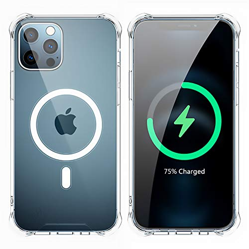 "JBH Transparent MagSafe Phone Case for IPhone12 Pro Max 6.7'', MagSafe Magnetic Phone Case, Ultra Slim Anti-Fall Anti-Scratch Shell,Support Wireless Charge(iPhone 12 Pro Max-6.7"")"