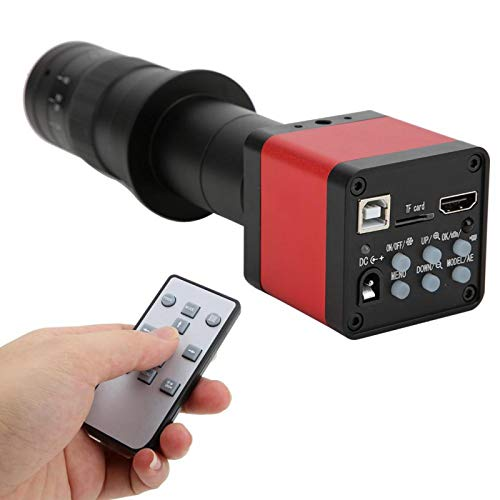 CMOS 1/2.33 Beeldsensor Industriële microscoop Microscoopcamera Dubbele uitgang met 180X C-lens voor industrie(100-240V, European standard)