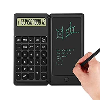 Calculator,Aucanla 12-Digit Desk Calculators with Writing Tablet,Mute Portable and Foldable Desktop Calculator,Multi-Function Basic Calculator for Office Meeting and Study