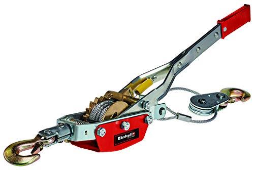 Einhell Tracción por cable con palanca manual TC-LW 2000 (cable de alambre de 3.3 m, fuerza de tracción máx. 2000 kg, incl. una polea de desvío con gancho de carga y estribo de seguridad)