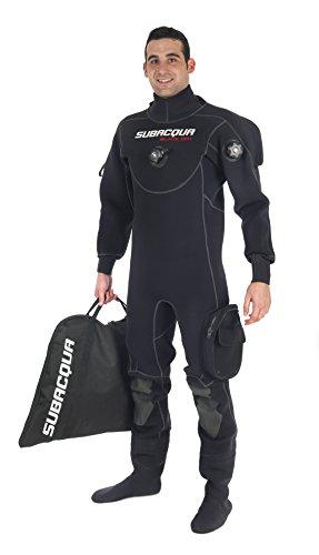 Subacqua Black Dry Sport Muta asciutta, Unisex Adulto, Unisex Adulto, Black Dry Sport, Nero, S
