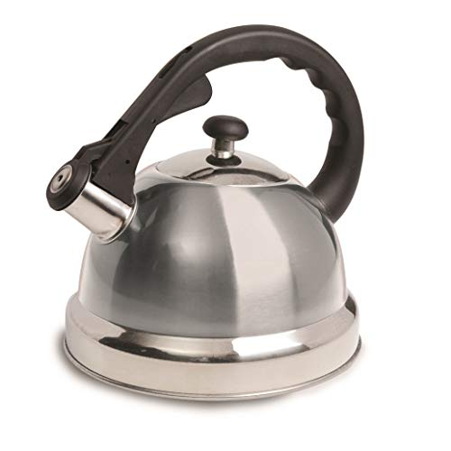 Mr Coffee Claredale Whistling Tea Kettle, 2.2-Quart, Brushed Stainless Steel