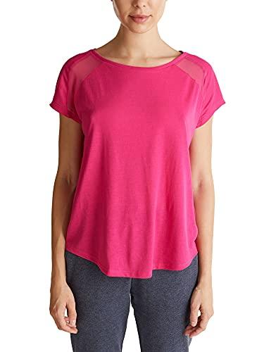 ESPRIT Sports RCS t-Shirt sslv Camisa de Yoga, 660/rosa Fucsia, XXL para Mujer