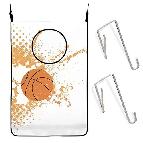 N\A Bolsa de cesto de lavandería para Colgar en Forma de Salpicaduras, Color Naranja, de Baloncesto