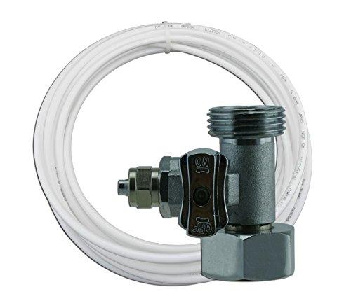 """T-STÜCK 3/4""""x3/4""""x1/4"""" Schlauchanschluß mit 7m Schlauch (6,35mm). Wasseranschluß mit Absperrhahn Adapter zum Anschluss von 2 Geräten (1+7m)"""
