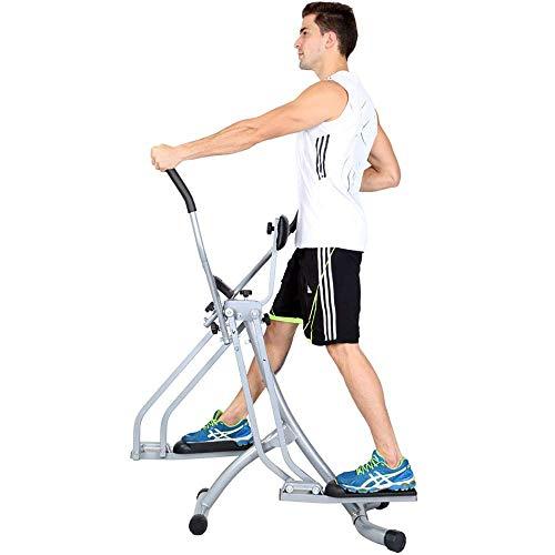 LHQ-HQ Avanzate cyclette Fitness Trainer Cross trainer, Cyclette, verticali e orizzontali Swinging Movimento, Built-in Computer Training Ideale Cardio Trainer (Colore: Argento, Formato: Formato libero